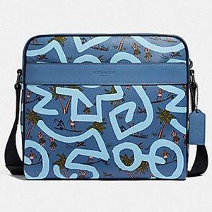 Coach x Keith Haring big Hawaiian messenger 🌴